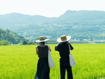 【小豆島カメラ】牧浦知子 鮮やかな緑色、ザワワとざわめく稲穂に誘われる。夏の暑さも忘れるスペシャルな昼下がり。
