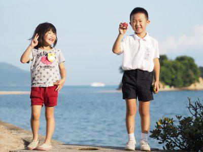 【小豆島カメラ】大川佳奈子 当たり前にあるこの景色。きっと彼らは大きくなってから気づくだろうなぁ、小豆島の良さを。